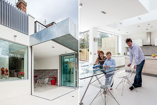 Extension on Edwardian home