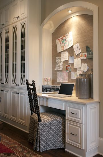Going to have a real office for husband to work in, but I want a little kitchen office too.