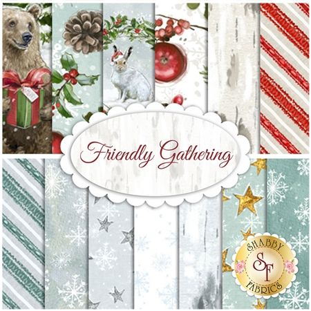 Friendly Gathering Yardage by Wilmington Prints: Friendly Gathering is a darling Christmas collection by Chris Barrett for Wilmington Prints. 100% Cotton. This collection will feature 15 SKUs.Expected Arrival Date Is June 2018
