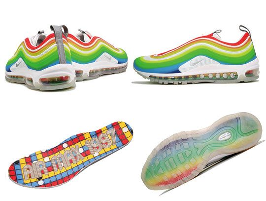 "finest selection f6360 ffb95 Nike Air Max 97 Lux ""Rainbow""  neaker  Nike basketball shoes, Nike shoes  cheap, Nike"