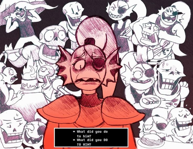 Undyne Undertale Papyrus, What did you do to him?