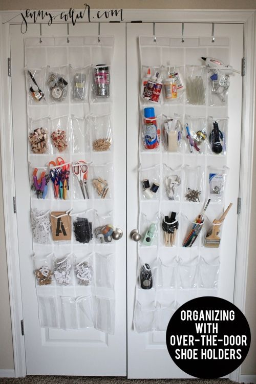 Organizing With An Over The Door Shoe Holder