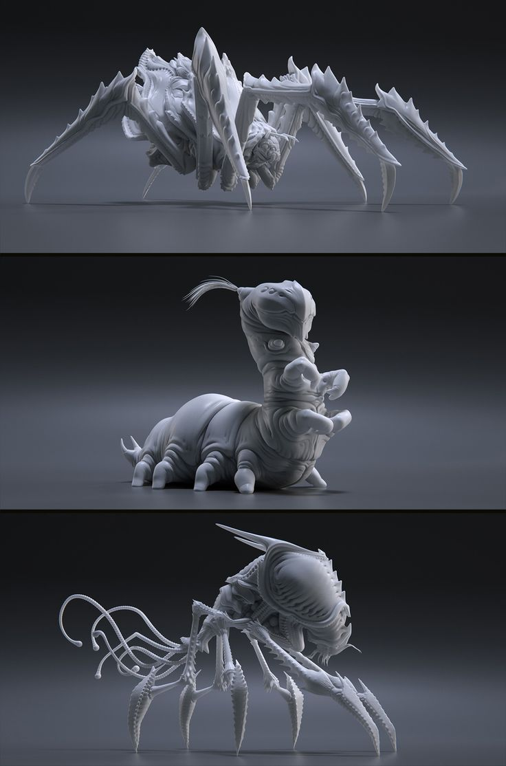 http://carstenstueben.cgsociety.org/art/zbrush-insects-creatures-3d-1356765