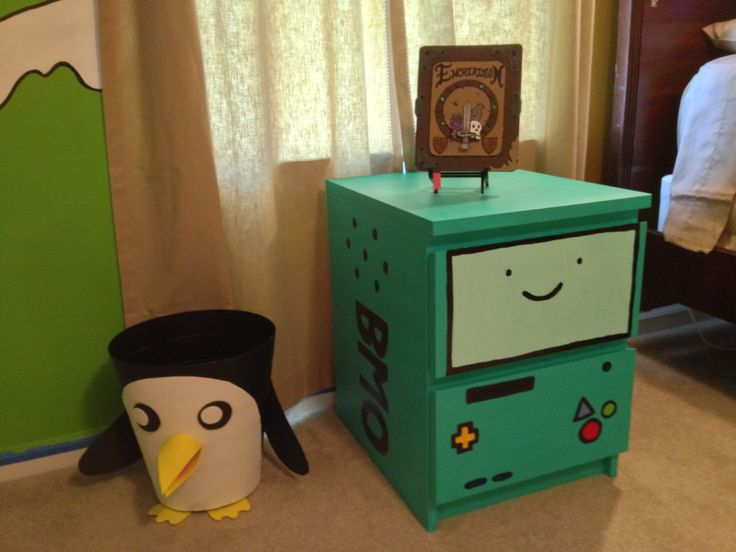 Adventure Time Bedroom Project... Dat BMO cabinet...