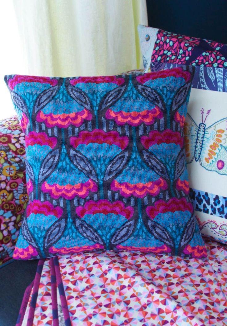 Anchor Living ALR69 Fanfare Needlepoint Tapestry Cushion Kit | eBay