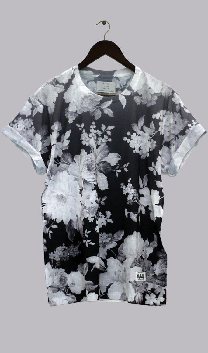 Thfkdlf   Floral Tee   Back White   Raddest Fashion Looks On The Internet