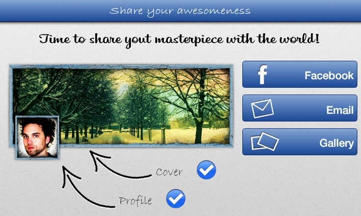 Instant Cover is now available on Android!  - Publish your artwork easily on your Facebook timeline -