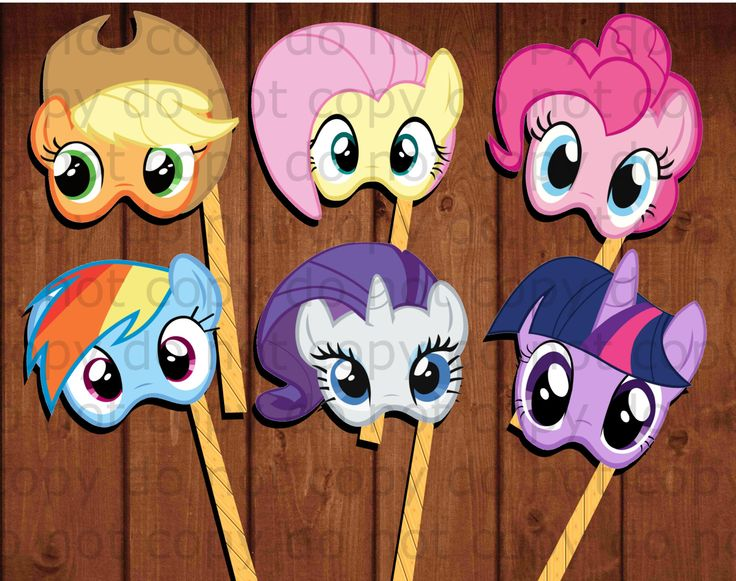 My Little Pony masks/props with 6 different by alafoliedesigns
