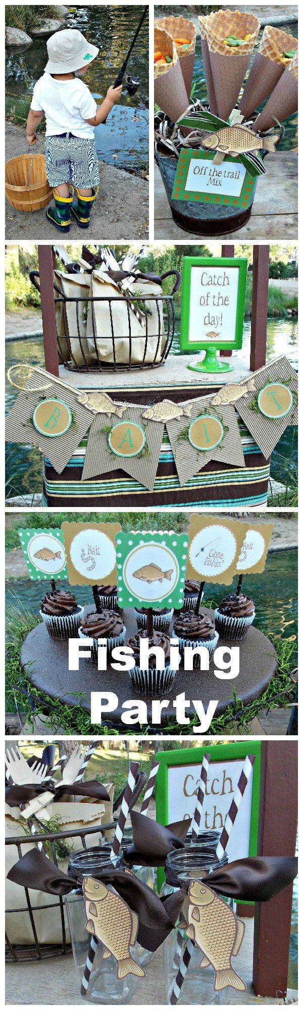 The cutest fishing party ideas! | Laura's Little Party