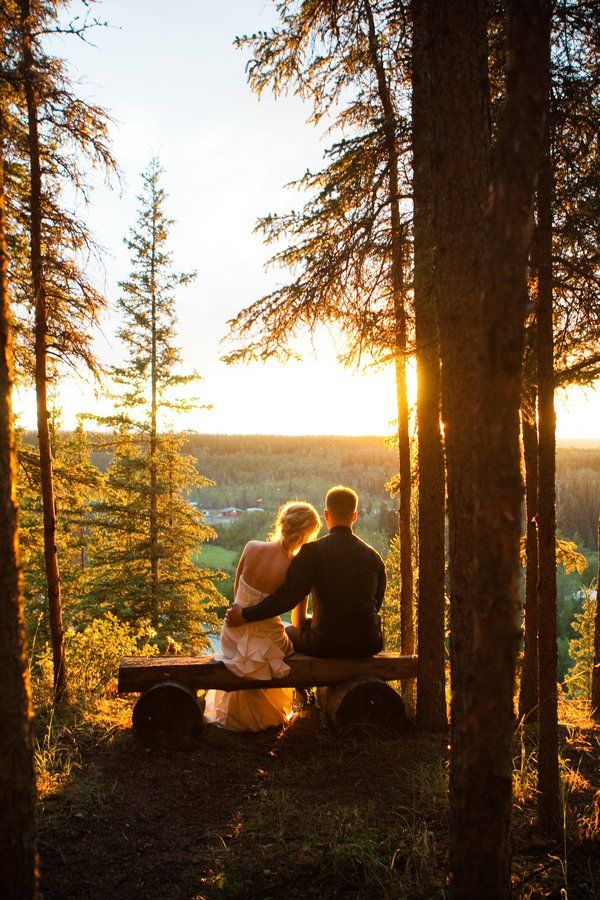 Alaskan Wedding Sunset at Midnight