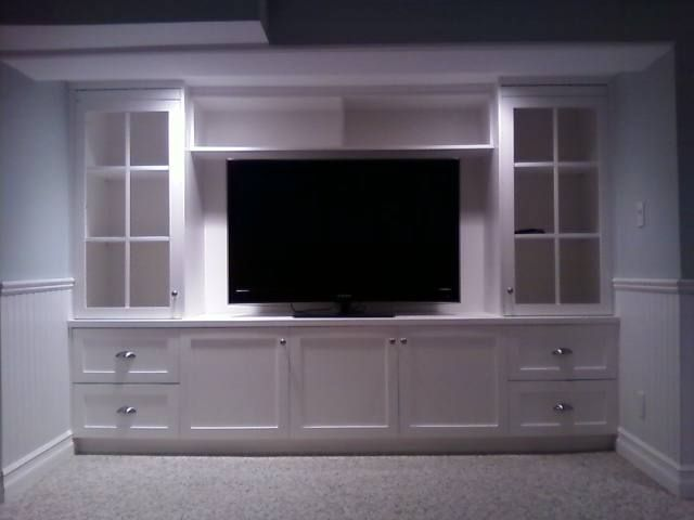 Simple Built In Entertainment Center Woodworking