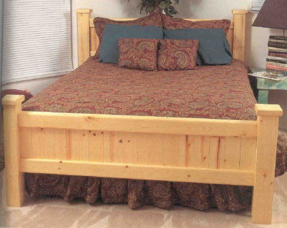 Pine Bed Wood Working Plans PDF Instant Digital Download | Products ...