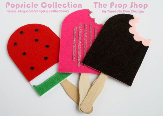 Photo Booth Props - On a Stick - Photobooth - Summer Popsicle Ice Cream - Weddings - Party Favors - Birthday - Mustache