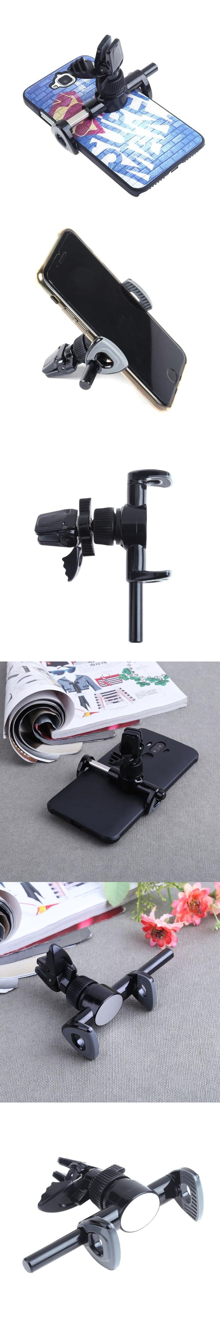 Universal Car Interior AC Vent Mount Smart Phone Holder Bracket Stand Bicycle Motorcycle 360 Degree Rotary Phone GPS Holder