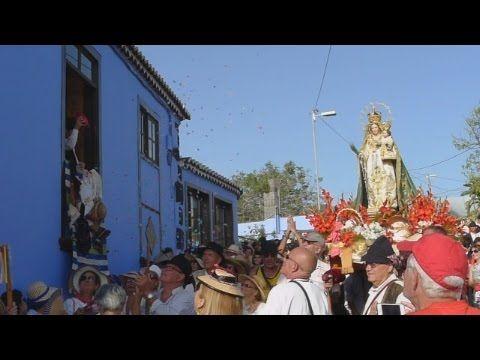 Korte video over de processie Virgen del Pino op La Palma in El Paso.
