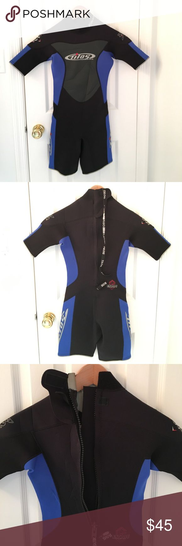 XS Tilos Wetsuit from Italy -- Short Worn only once at cenotes in Mexico, this is an Italian wetsuit, purchased New from a dive shop in Midtown Manhattan. There are some creases (see photos) from being stored folded on a shelf. EUC. It would fit a size xsmall or dress size 0. Tilos Other