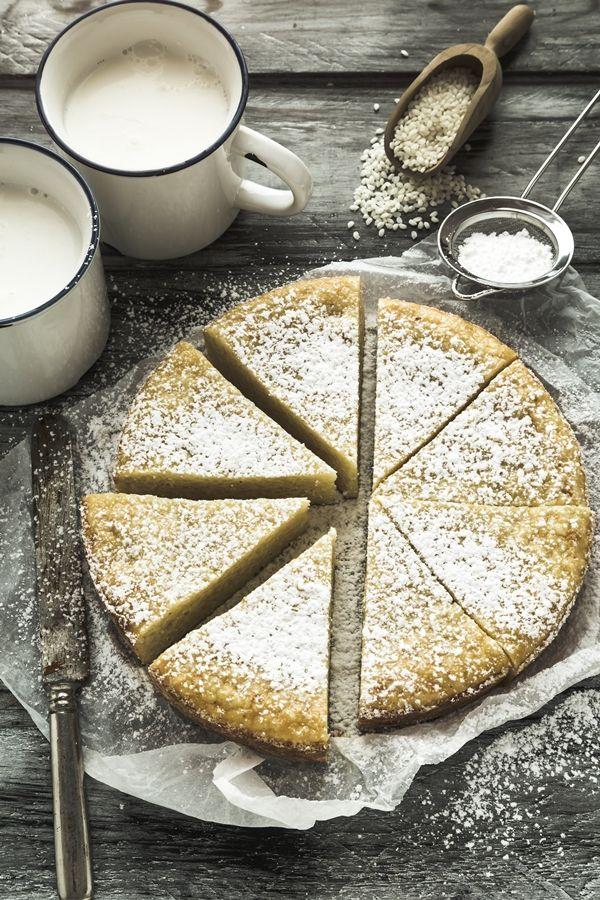 torta di riso - torta di riso al latte - Italian rice milk cake