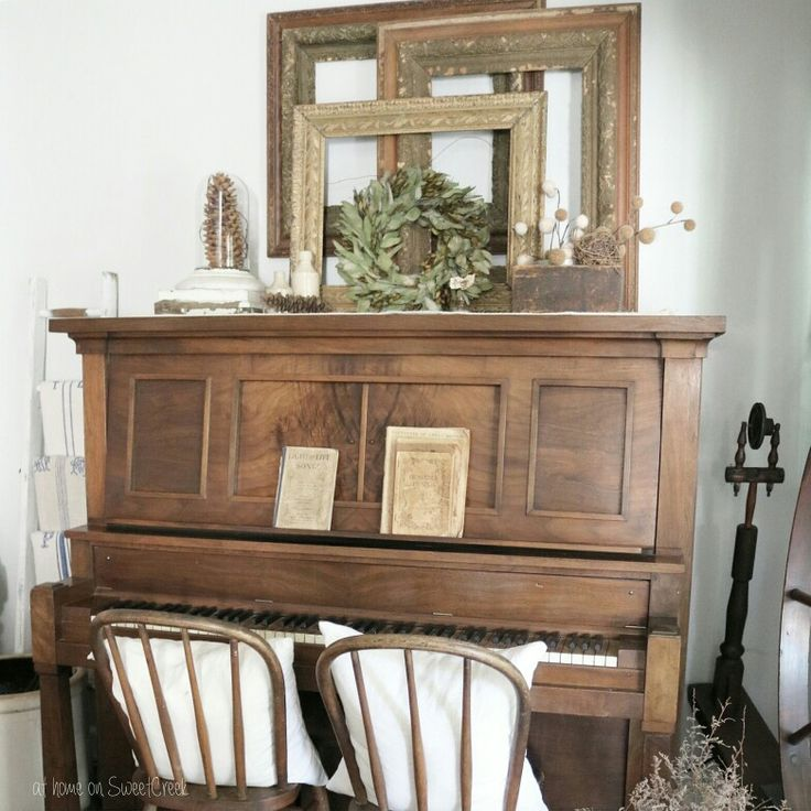 Farmhouse  - Antique Piano   at home on SweetCreek