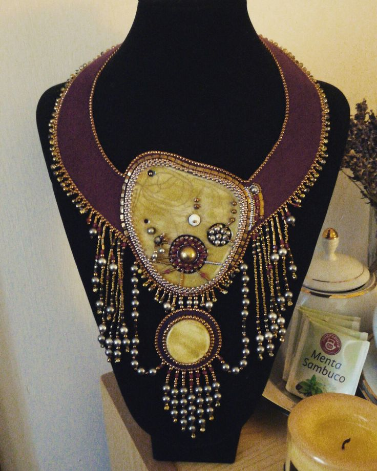 "Collare ""The Queen"" Ceramica raku e perle swarovsky"