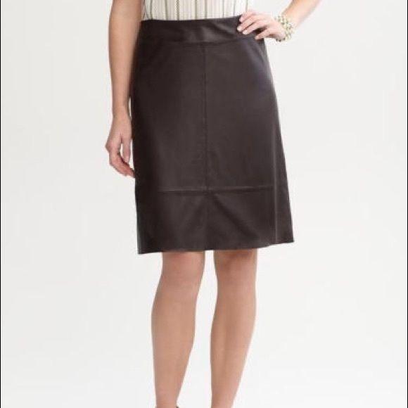 New Banana Republic Brown Leather Skirt Soft supple dark brown leather aline skirt. Genuine leather Banana Republic Skirts A-Line or Full