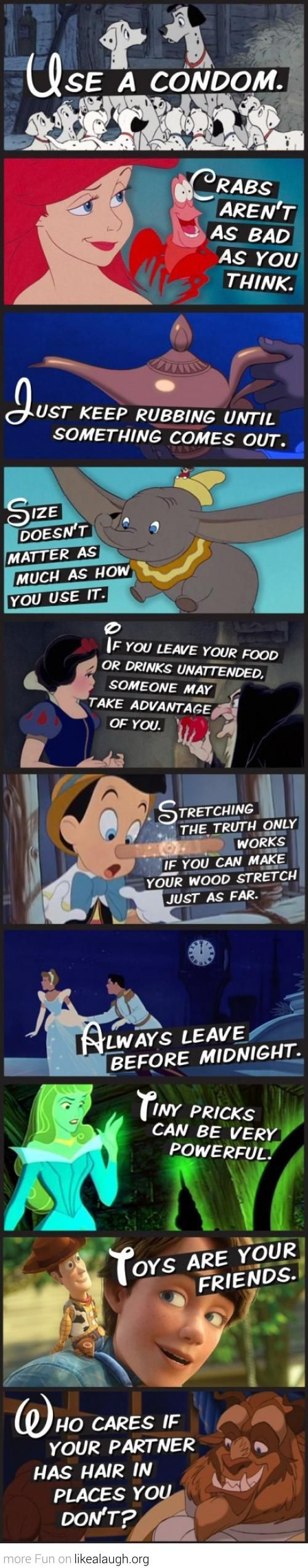 A few tips from Disney Movies..... Dying!!!!