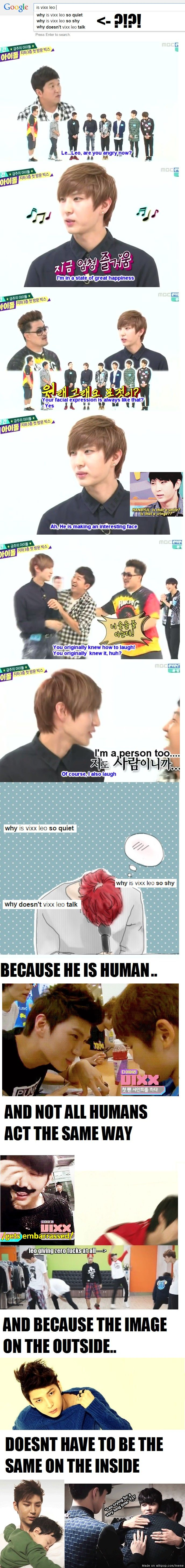 I feel Leo's pain. I am a very shy and quiet person and u always get asked this and never know what to say.