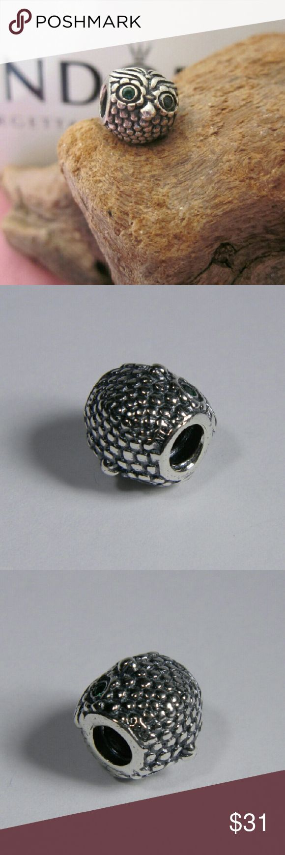 Pandora Wise Owl Charm # 791211CZN Pandora Wise Owl Charm # 791211CZN        Sterling silver  New and never used  % 100 authentic  S925/ale hallmark stamps on it  Official Pandora foldable cartoon box tissue and sticker included with purchase   If you interested in another item on my list please ask me, I do combine     Enjoy shopping Jewelry