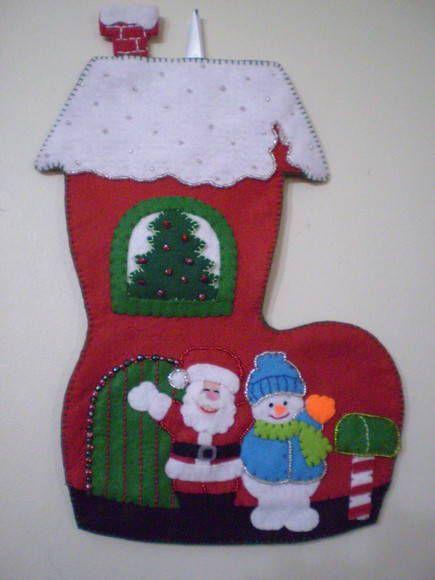 Bota de natal - enfeite para porta