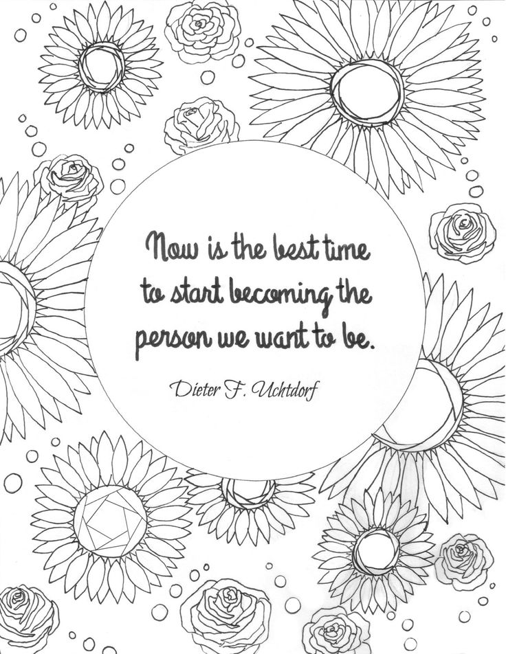 Lds Mormon General Conference Quote Coloring Page Packet