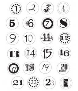 printable numbers for advent