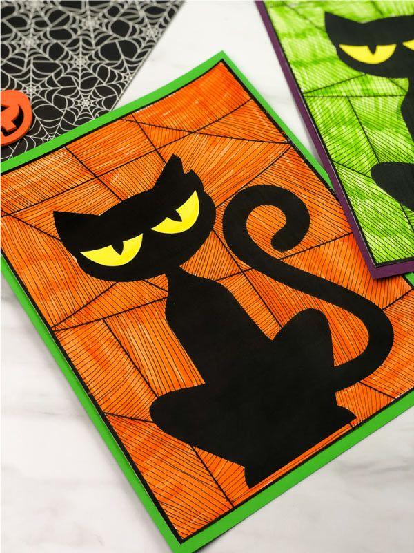 Halloween Black Cat Craft für Kinder   – Holidays With Kids
