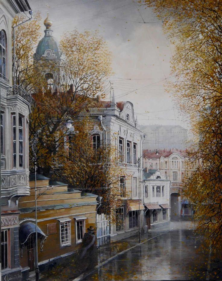 Il mondo di Mary Antony: Le scene urbane di Alexander Starodubov