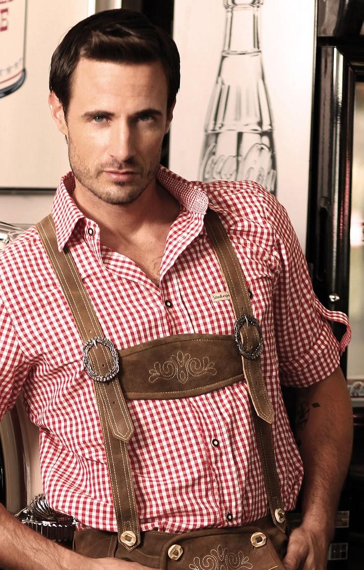Chequered Oktoberfest Shirt for Men Campos2 red