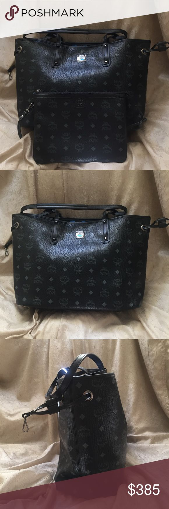 mcm handbag tote purse in black authentic guaranteed mcm reversible tote. never used. sorry no trades. inappropriate comments will be ignored and/or reported. MCM Bags Totes