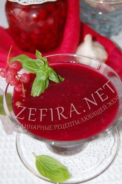 Чесночный соус из красной смородины и крыжовника-домашние рецепты с фото