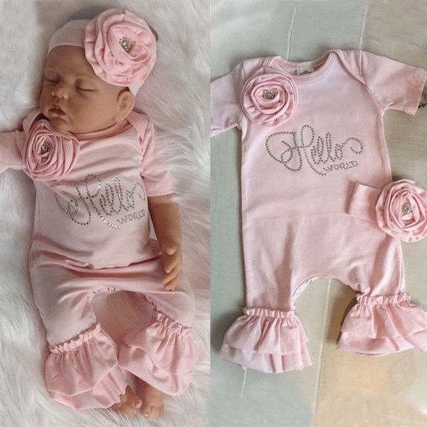 Stirnband Infant Baby Strampler Body Overall Overall Kleidung Outfit