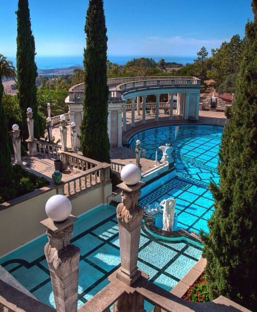 Hearst Castle, California. 'El Casa Encantada'. Ref my other 'pin' of this place.