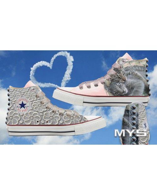 #scarpe da #sposa #Converse personalizzate, una meravigliosa #alternativa anche dal punto di vista del #fotografo !