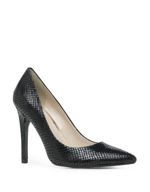 Leather Snakeskin Court Shoes | Woolworths.co.za