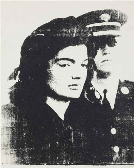 Artwork by Andy Warhol, Jackie, Made of Synthetic polymer and silkscreen ink on canvas