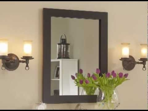 watch as bare plate glass vanity mirrors transform into beautiful fullyframed mirrors with frame bathroom