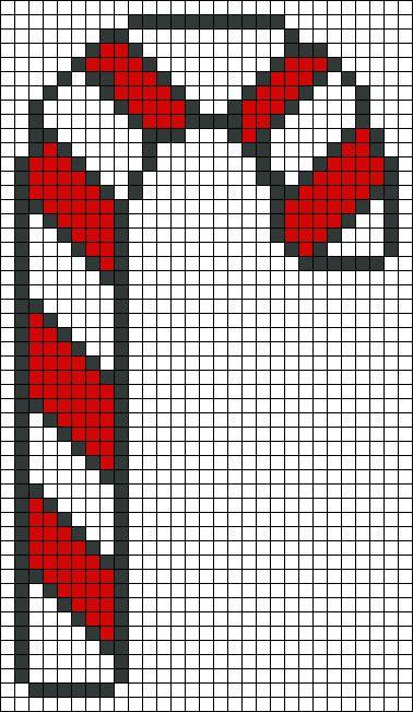 Candy Cane Christmas perler bead pattern