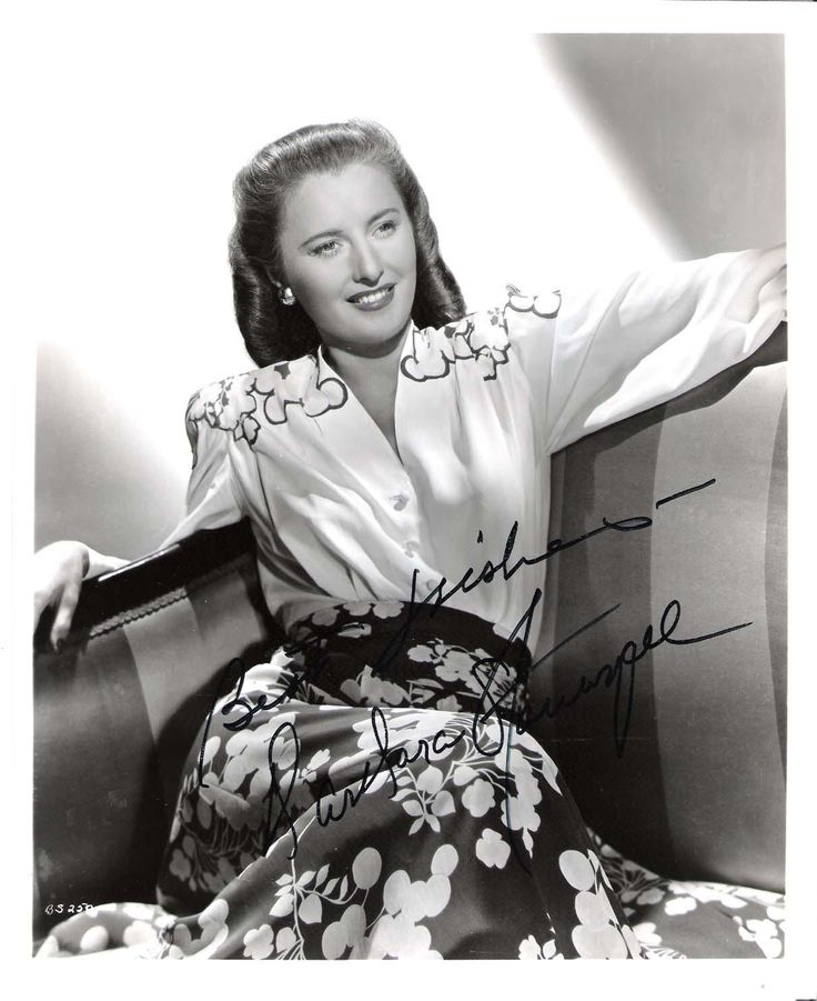 BARBARA STANWYCK - She made 85 Films and A Stage Actress in the 1920's (Passed Away 1990) Signed 8x10 B/W Photo.