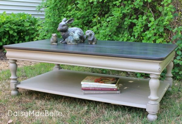 Chalk Painted Coffee Table @ DaisyMaeBelle -- This is how I want my table to be painted--