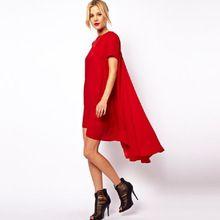 2016 ласточкин хвост сексуальный летом европейская часть внешней торговли крупных женщин размер сшивание Свободные мода пляж платье шифоновое платье(China (Mainland))