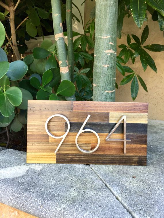 Completed projects: http://www.pinterest.com/mmwoodworks/mm-wood-works/    M&M Wood Works address plaques will add that unique and modern chic touch