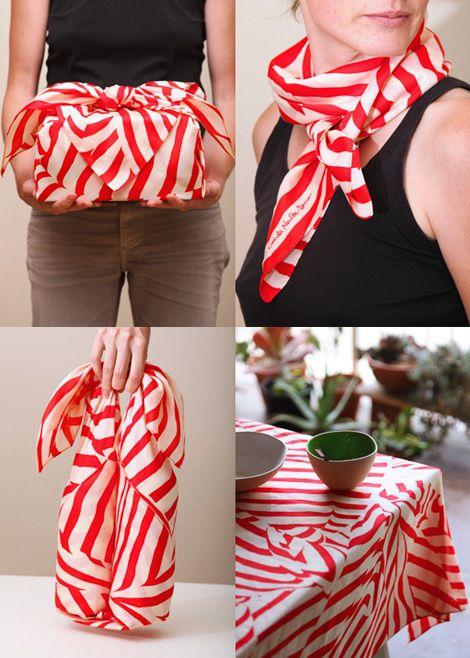 Furoshiki {a traditional Japanese wrapping cloth} by Lucinda Newton-Dunn
