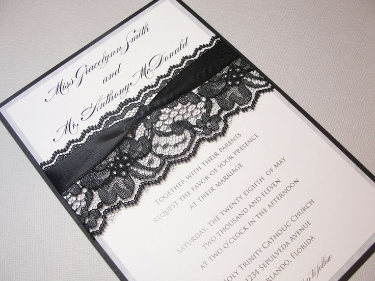 Hand Made Lace Wedding Invitations Lacey 3 Invitation Invite Vintage