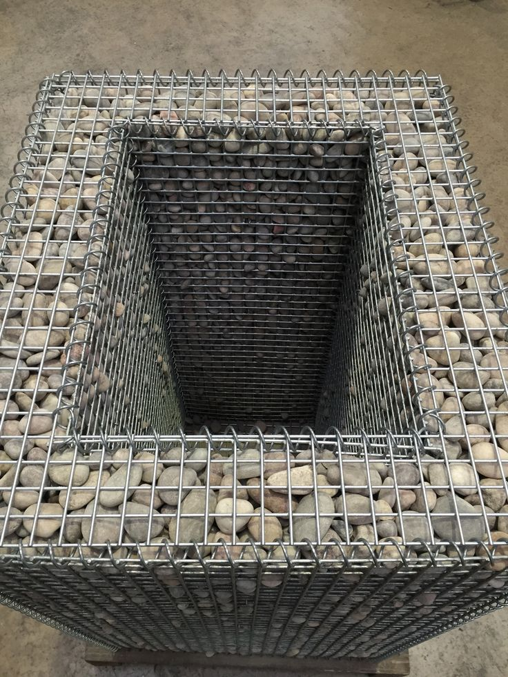 Gabion planter with lid