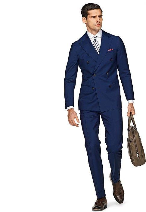 Suit Blue Plain Soho P3525 | Suitsupply Online Store